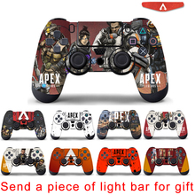 Apex Legends Skin Sticker For Sony Playstation 4 Controller Vinyl Decal Skins For PS4 Gamepad Controle Cover protective vinyl skin decal cover for ps vita psvita playstation vita portable sticker skins diamond plate