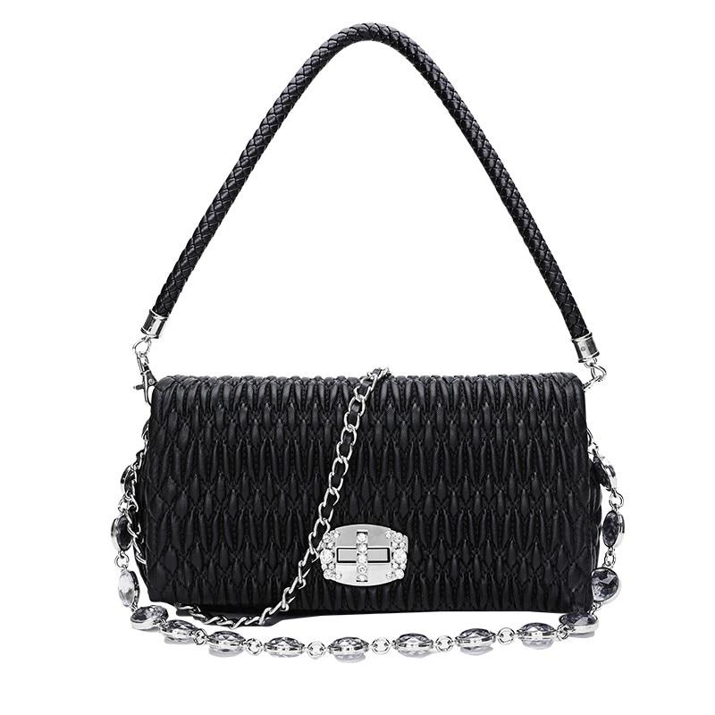 Sale New Fashion Design Women's Shoulder Bag Sheepskin Genuine Leather Bag Luxury Elegance #8P9050