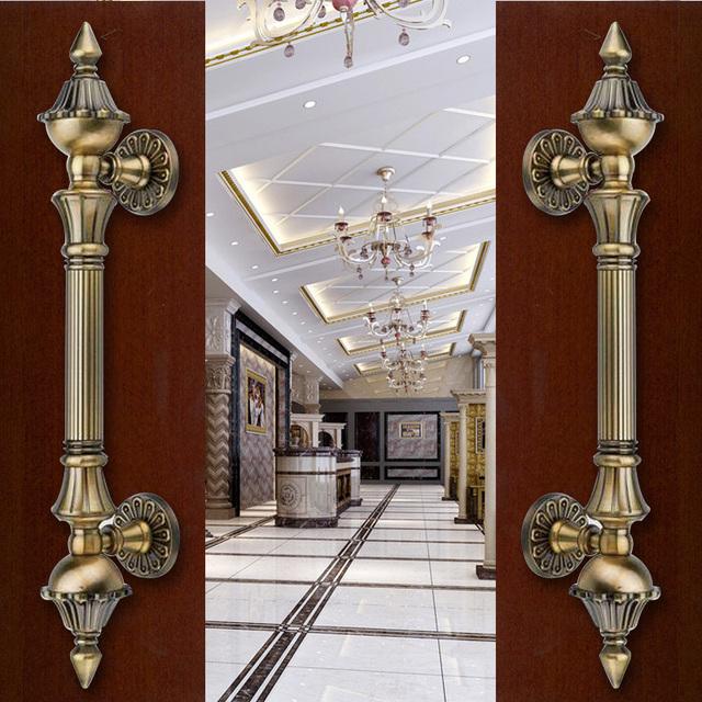 2 pcs frete grátis porta agitar handshandle de estilo europeu handshandle trepidação porta villa archaize porta de madeira pega DM001