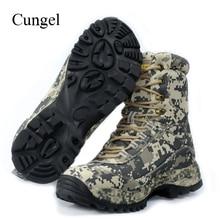 Cungel Outdoor Hiking Shoes Camouflage Sneakers Men Winter/Autumn waterproof hunting Military desert boots trekking Climbing