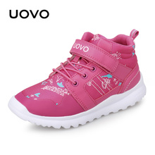 цены 2018 UOVO New Arrival Boys Girls Shoes Kids Sport Shoes Outdoor Children running shoesSneakers for Boys Girls Size 29#-37#