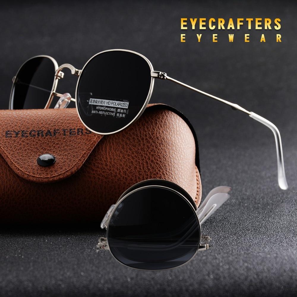 0df21051746 Blue Portable Foldable Folding Sunglasses Polarized Mens Womens Fashion Retro  Vintage SunGlasses Driving Mirrored Eyewear 3532-in Sunglasses from Apparel  ...