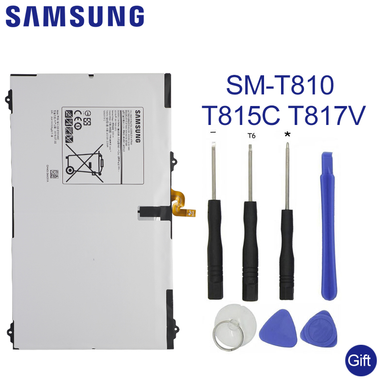 SAMSUNG Tablet Battery EB-BT810ABE For Galaxy Tab S2 9.7T815C SM-T815 T815 SM-T810 SM-T817A S2 T813 T819C Tablet Battery 5870mAhSAMSUNG Tablet Battery EB-BT810ABE For Galaxy Tab S2 9.7T815C SM-T815 T815 SM-T810 SM-T817A S2 T813 T819C Tablet Battery 5870mAh