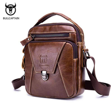 New Arrival Genuine Leather Crossbody Bags for Men Soft Vintage Messenger Bag Men Leather Bags Zipper Shoulder Bags Handbags