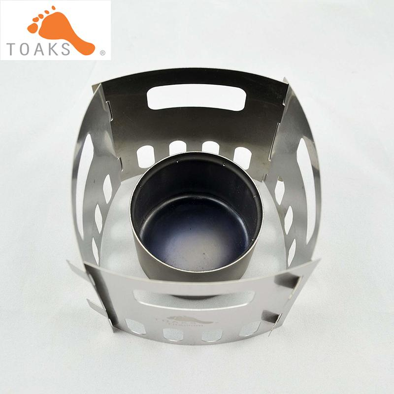 TOAKS STV-01 Titanium Siphon Alcohol Stove And Pot Stand FRM-02, Camping Survival In The Wild Travel
