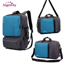 17 inch Multifunctional Laptop Backpack Briefcase shoulder bag handbag Business Travel school backpacks For Macbook Pro 15.6inch все цены