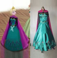 Anna &Elsa Princess Cinderella Birthday Gift Cosplay Costume Adult Elsa &Anna Snow White Mermaid Halloween