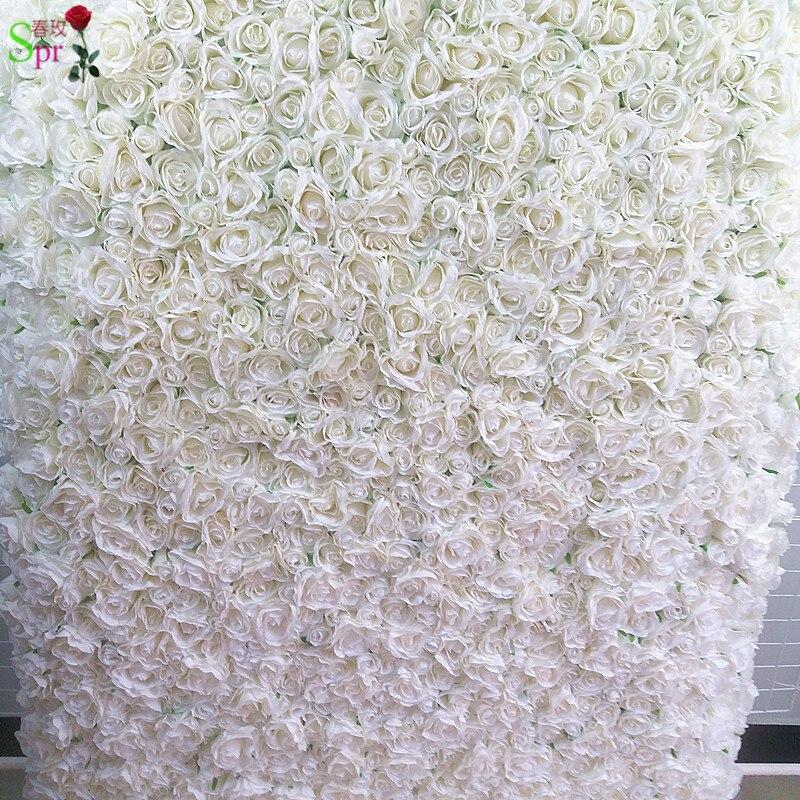SPR retrousser tissu fleur mur 4ft * 8ft artificielle mariage occasion toile de fond arrangement fleurs décorations livraison gratuite - 2