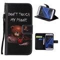 Для Samsung Galaxy S7 Коке Чехол Новая Картина Флип PU Кожаный Бумажник Стенд Шкафы для Samsung Galaxy S7 Наручные ремень