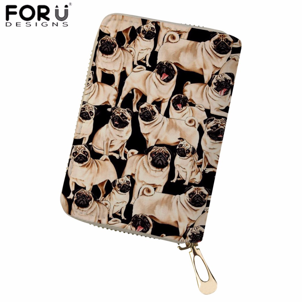 Luggage & Bags Coin Purses & Holders Bulldogs Corgi Pet Women Credit Card Holder Pu Leather Waterproof Zipper Protective Bag For Name Id Card Wallet Cardholder Cover