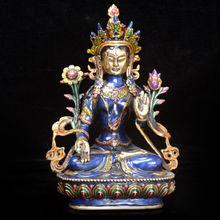 Old Tibet Cloisonne Tibetan Buddhism Statue ----white Tara