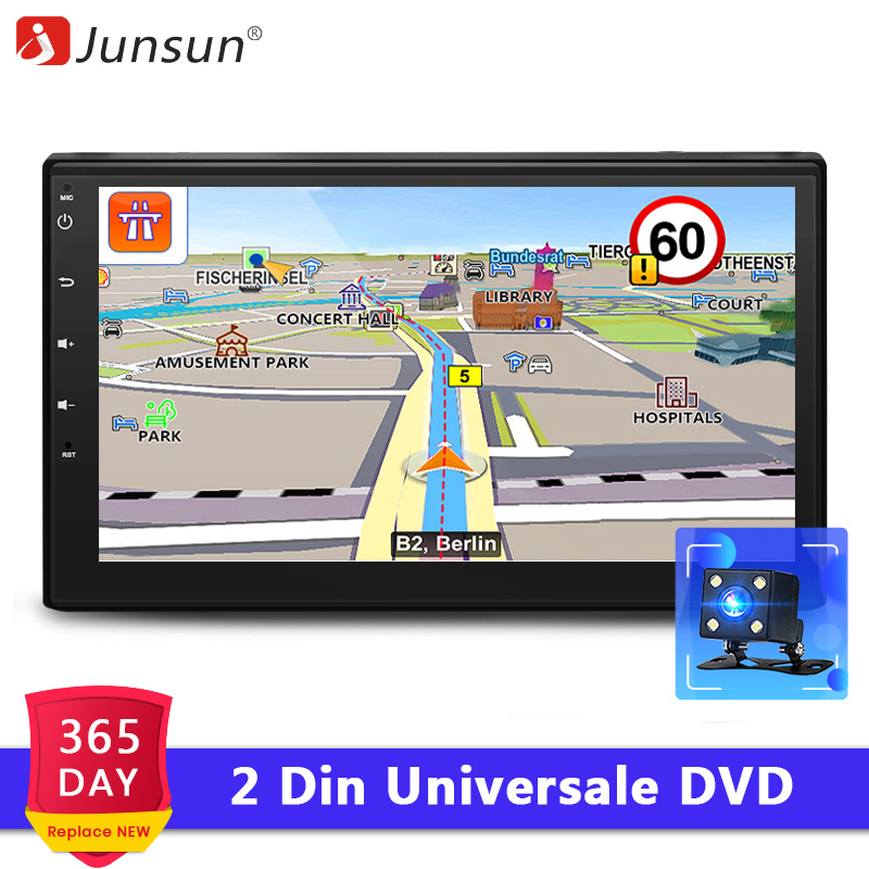 Junsun 2 Din Car DVD Android 7 1 Radio Multimedia Player GPS Navigation Universale for nissan