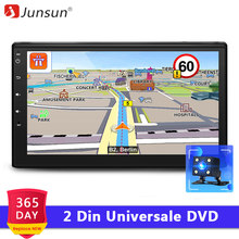Junsun 2 Din Auto DVD Android 7.1 Radio Multimedia Player GPS Navigation Universale für nissan autoradio lenkrad control(China)