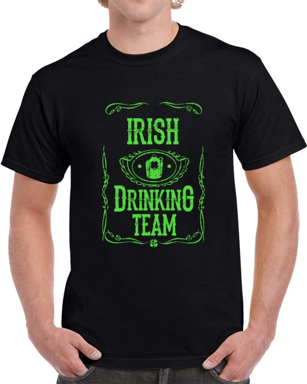Irish Drinking Team St Patricks Day Beer Whisky Funny T Shirt