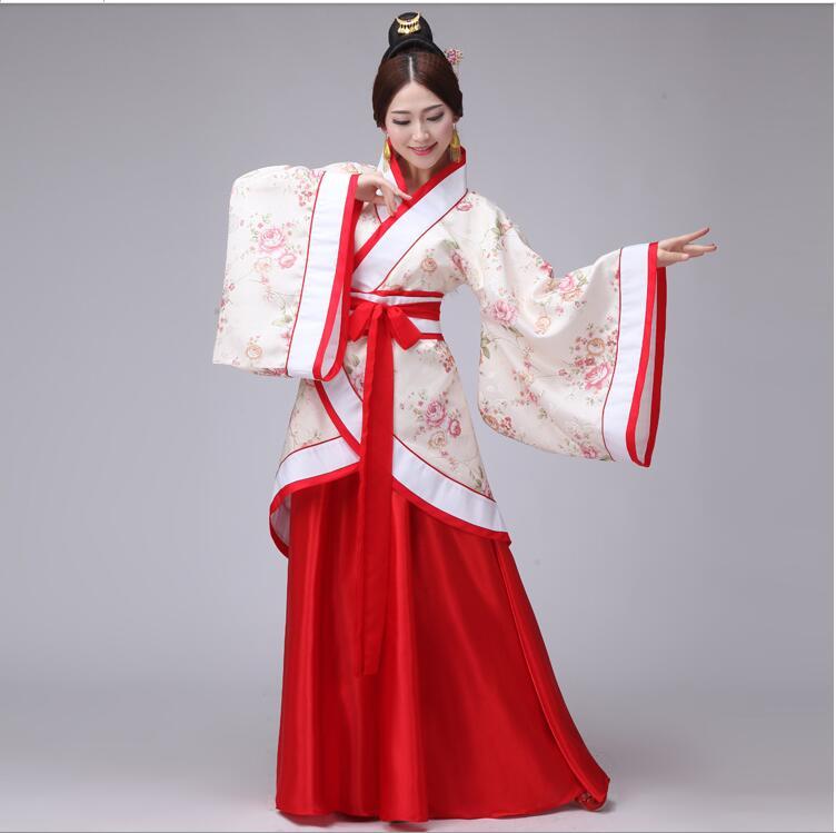 2017 национальный костюм ханьфу Древний китайский ханьфу женская одежда ханьфу китайское сценическое платье