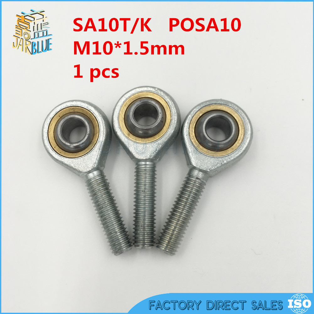 10mm SA10T/K POSA10 SA10TK rod end joint bearing metric male right hand thread M10x1.5mm rod end bearing 4pcs lot 16mm male right hand thread rod end joint bearing metric thread m16x2 0mm sa16t k posa16 m16