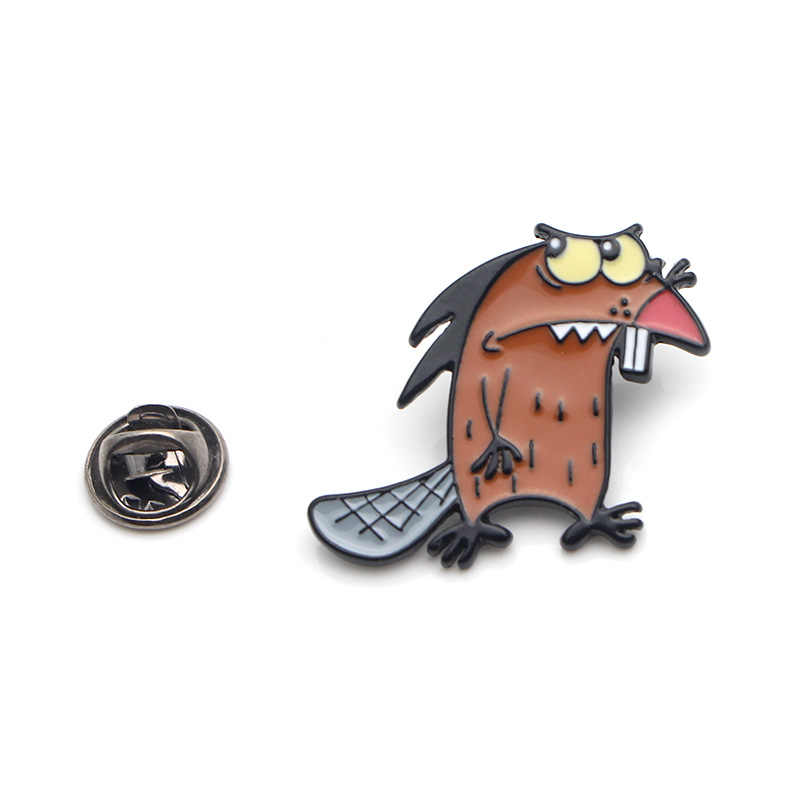 Kunduz komik çinko alaşım kravat pimleri rozetleri tişört çanta giysi kapağı sırt çantası ayakkabı broş madalya süslemeleri çift E0326