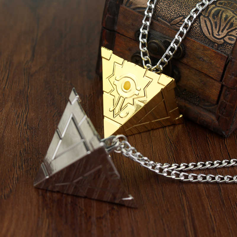 Gold Silver Plated  Hip Hop Illuminati Necklace Pyramid Egyptian Eye Of Horus Charm Pendants Necklaces Men Amulet Rock Punk Type