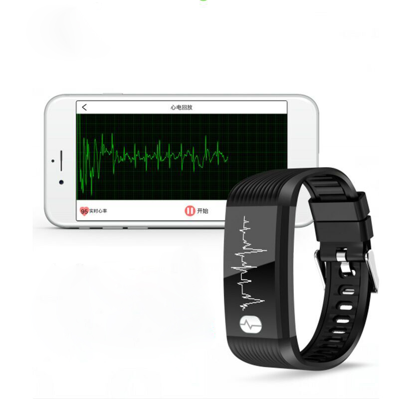 ECG Monitor Smart Bracelet Heart Rate Blood pressure Breathing Training Smart Wristband Waterproof Sport Watch for Men and Women the blood pressure bracelet is measured in the heart rate sleep monitor and the bluetooth waterproofing movement bracelet