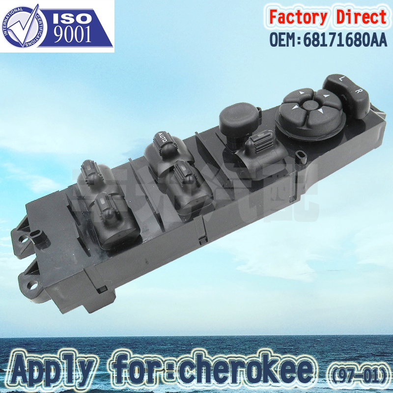 Factory Direct Front Left Master Auto Power Window Control Switch Apply For Cherokee 97-01 68171680AA