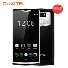Oukitel K10000 Pro 4G Smartphone 5.5 Cal MTK6750 FHD 10000 mAh Android 7.0 Octa rdzeń 3 GB + 32 GB 13MP OTG Linii Papilarnych Telefonu Komórkowego