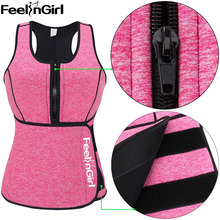 FeelinGirl Neoprene Sauna Vest Hot Body Shaper Slimming Waist Trainer Corset Workout Shapewear Adjustable Sweat Belt