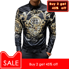 5713b07c55455 Buy black shirt with gold print and get free shipping on AliExpress.com