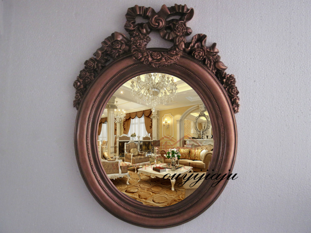 Large Big Decorative Cosmetic Antique Oval Wall Mirror With Frame Vintage Butterfly Wedding Gift