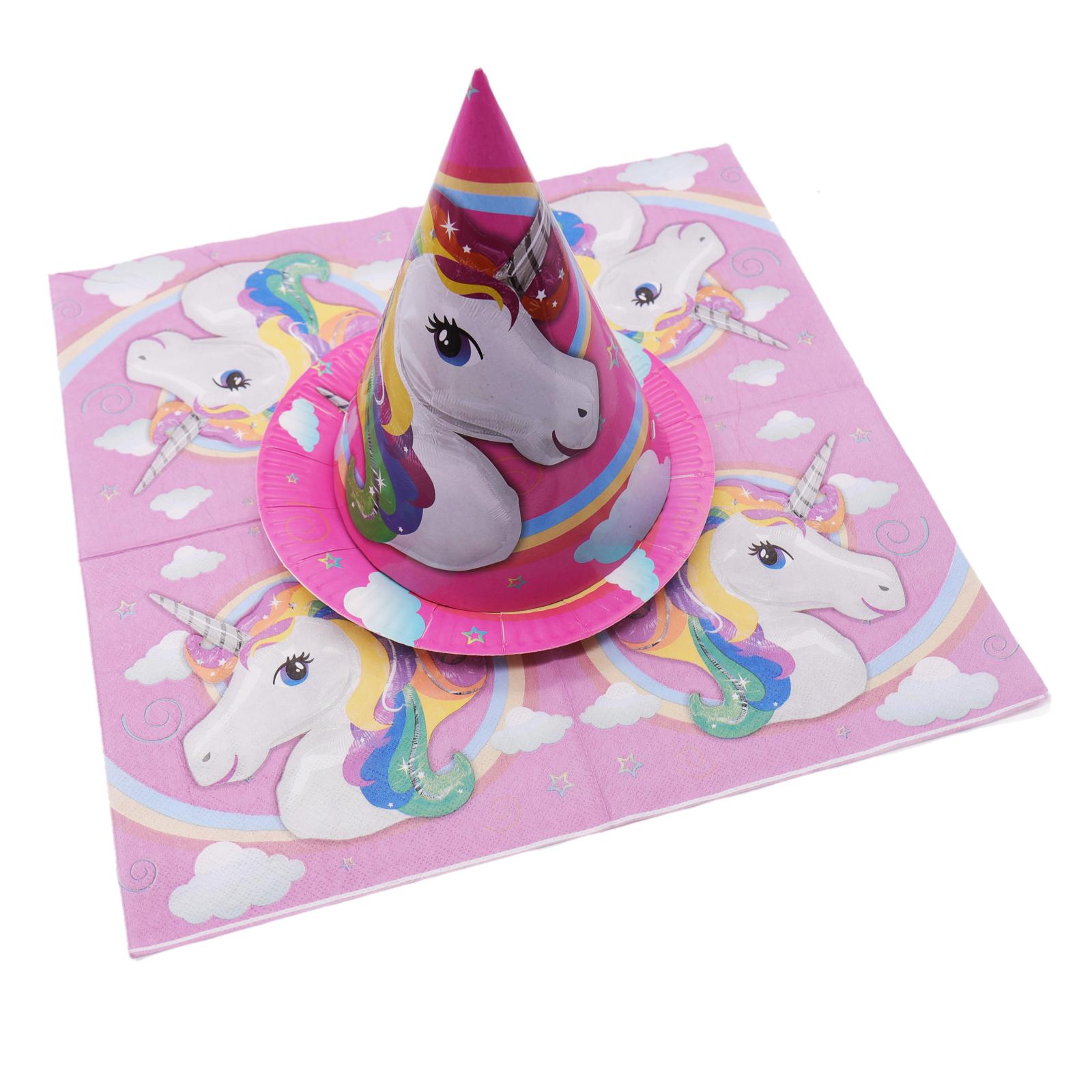 יום הולדת חד קרן כוסות צלחות מפיות מפת שולחן לייף-דיזיין להזמנה