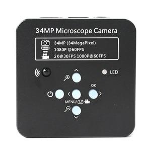 Image 5 - Brazo articulado con abrazadera de Pilar Zoom, microscopio Trinocular Focal estéreo, cámara de vídeo de 34MP para PCB Industrial, 3,5x 90X
