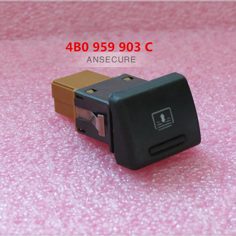US $10 8 10% OFF Rear Windshield Sun Shade Blind Control Switch ASR Button  cover for AUDI A6 S6 C5 4B0959903C 4B0941518 4B0927133C-in Car Switches &