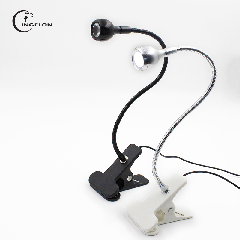 Ingelon USB Light Lampa do laptopa Gadżet Clip Flxtures Biurko Światło LED Dropshipping do czytania Pojedyncze ramię 1 szt Gadżety elektroniczne