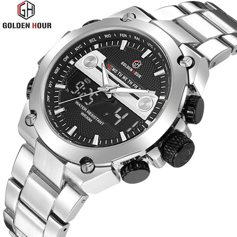 Men's Watches Top Brand Luxury Quartz Digital Watch New Men Clock Male Military Sports Waterproof Wristwatch Relogio Masculino new listing pagani men watch luxury brand watches quartz clock fashion leather belts watch cheap sports wristwatch relogio male