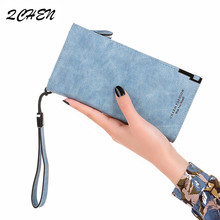 Famous Brand Luxury Wallets Women Long Leather Wallet Female Clutch Purse Ladies Fashion scrub 180Q