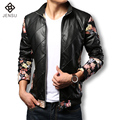 2016 Men Leather Jacket Brand Best Quality Jacket men Slim Fit PU Leather Jacket Plus Size Male Motorcycle Jacket Hot Sale
