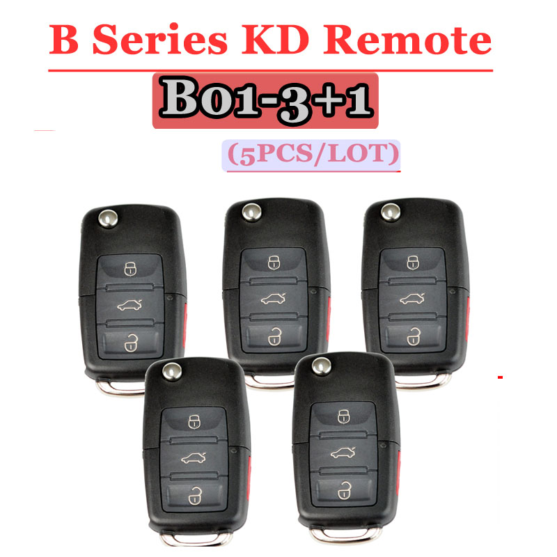 Free shipping (5pcs/lot) B01 kd900 remot 3+1 button B series remote key for VW Style For KD900(KD200) Machine-in Sensor & Detector from Security & Protection
