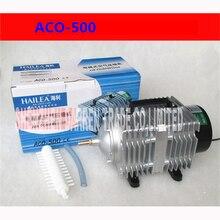 ACO-500 280L/мин 500 Вт elettromagnetica дель Compressore d'aria portatile AC 220 В aquacuture idroponico аквариумных рыб кислорода воздуха