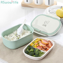 Food Container Insulated Lunch Box Student Portable Double-layer With Lid For Tableware