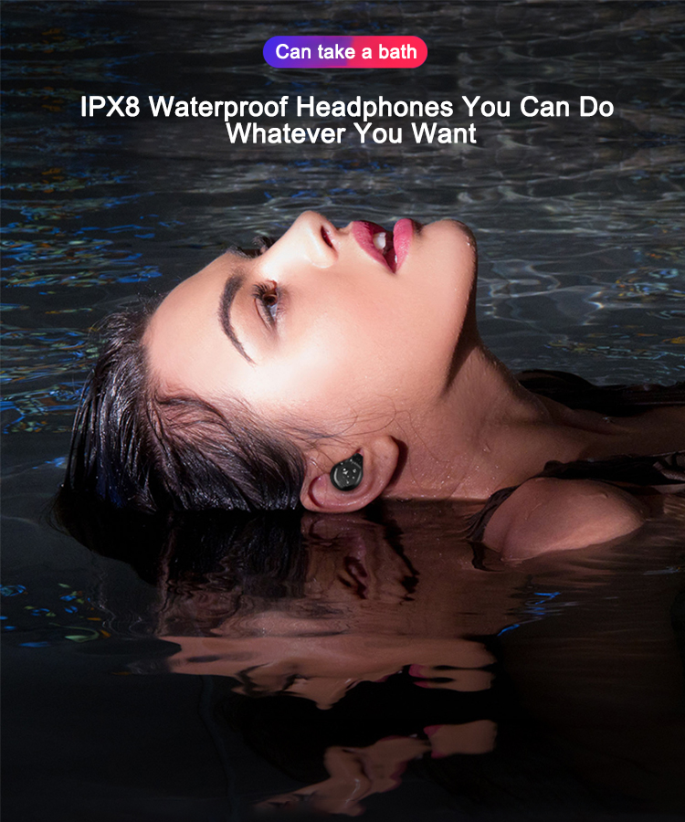 TWS IPX8 Waterproof wireless earphone bluetooth5 0 Touch Control Headset  mini in-ear earbuds Auto Pairing for iPhone XS max