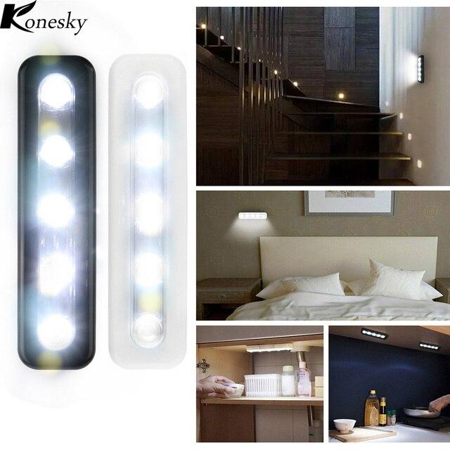 mini draadloze 5 led nachtverlichting closet lamp