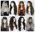 Half wig 3/4 wigs SYNTHETIC HAIR GORGEOUS WILD IRISH CHOCOLATE BROWN HEADBAND CURLY WIG WIGS 9 colors