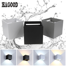12W LED Garden Lamp Waterproof Wall Light Adjustable Luminous Lighting AC85-265V Indoor And Outdoor Decoration Wall Scone