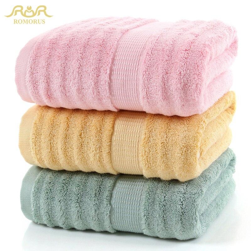 ROMORUS 100% Bamboo Fiber Bath Towel 70*140cm 520G Cool Bathroom Towel For Summer Super Soft Bamboo Towels High Absorbent Toalla