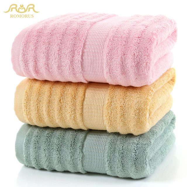 ROMORUS 100% Bamboo Fiber Bath Towel 70*140cm 485G Cool Bathroom Towel for Summer Super Soft Bamboo Towels High Absorbent toalla