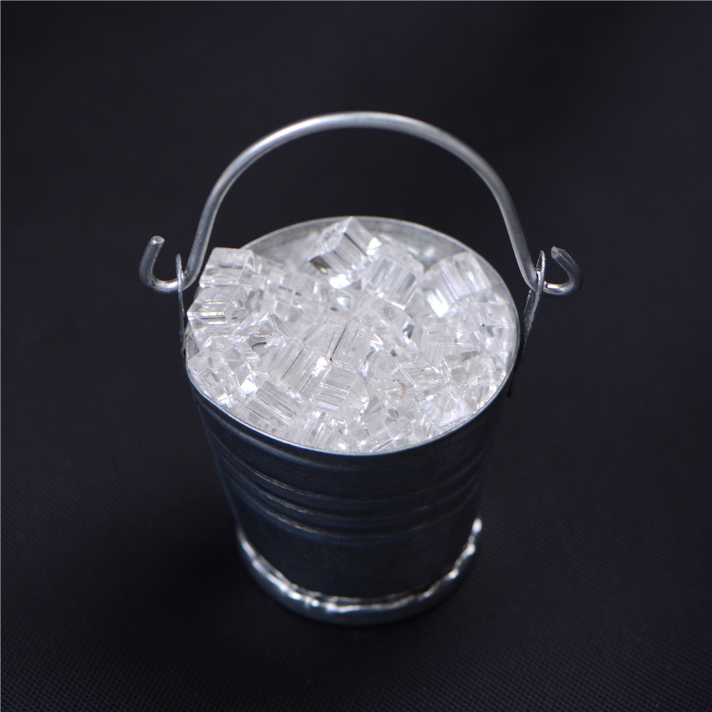 TOYZHIJIA 1:12 Scale Doll House Miniature Ice Cube Bucket