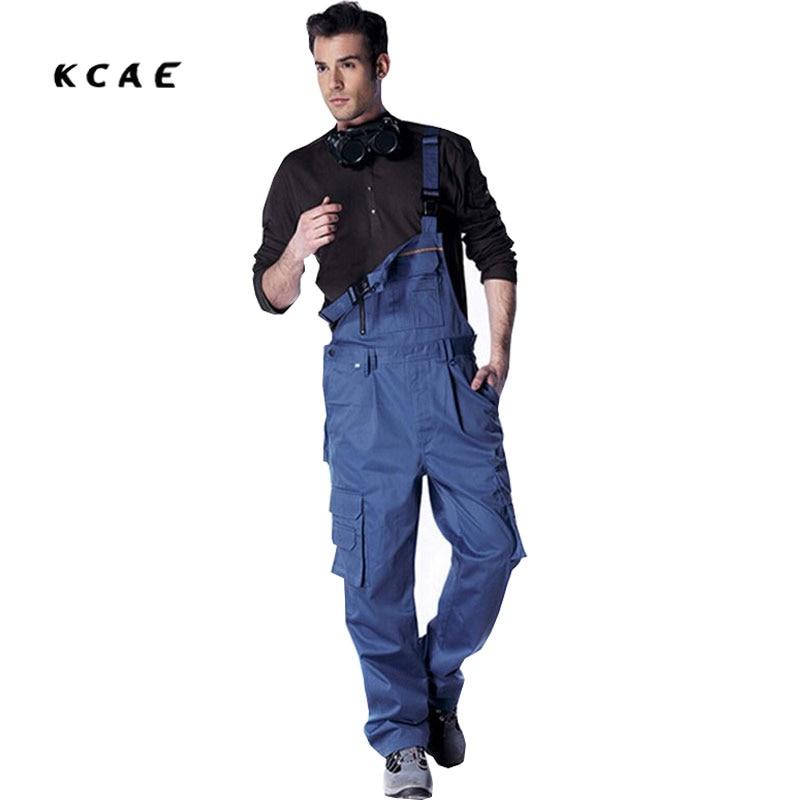 Jumpsuit Men Pants Work Wear Bib Pants Men's Plus Size M L XL XXL XXXL  Tooling Uniform Jumpsuits Loose Casual Overalls 2017 new summer discount work wear bib pants men s plus size tooling uniform jumpsuits loose casual overalls size m xxxl