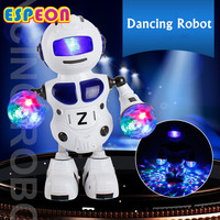 180 Rotating Smart Space Dance Robot Electronic Walking Toys With Music Light Astronaut Toys For Children