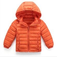 3 Т-7 Т Дети теплая вниз куртки С Капюшоном Девушки Парни Зимнее Пальто С Длинным Рукавом Мальчиков Куртки доказательство Дети дети Куртка