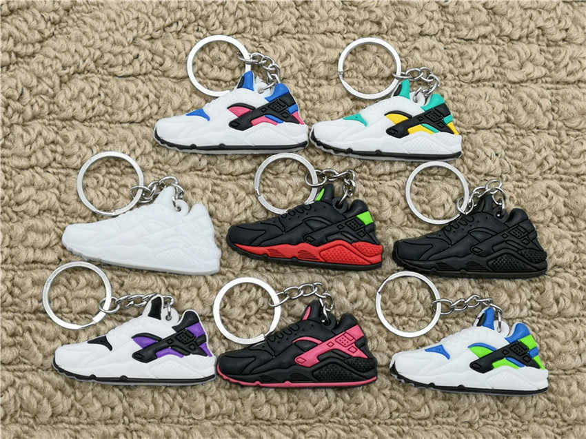 Mini Silicone Air Huarache Shoes Keychain Bag Charm Woman Key Ring Gifts Sneaker Key Holder Pendant Accessories Jordan Key Chain