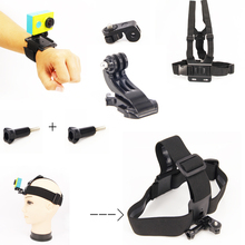 For Xiao yi accessories gopro set chest strap mount+Wrist strap belt+ Head strap ForGoPro & xiaomi accessories Set